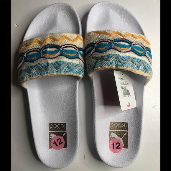 Puma Coogi White Slides Size